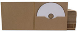 Our card based media packaging is now available in recycled card, and rouch manilla card stock.
